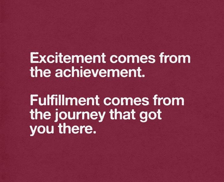 Excitement vs Fulfillment